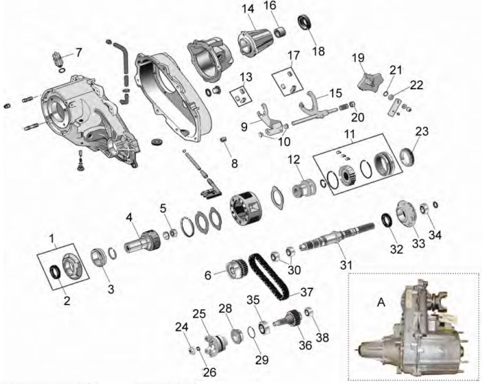 yj wrangler np transfer case parts