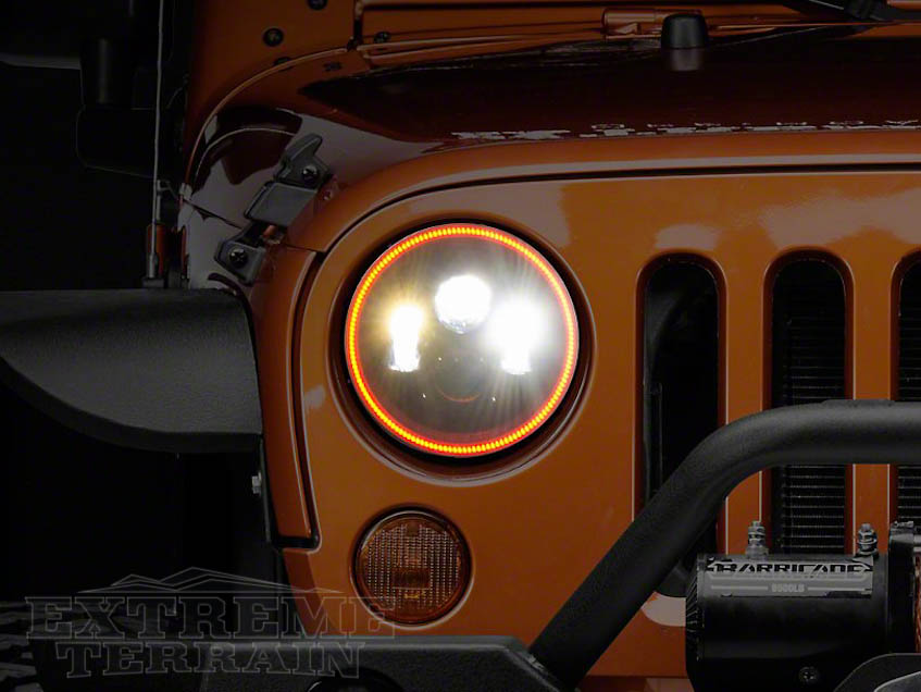 featured oracle led waterproof wrangler headlight best headlights for my jeep wrangler & how to adjust them Jeep Cherokee Wiring Harness at gsmx.co