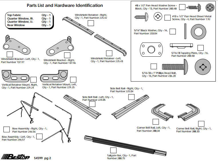 Jeep Wrangler Replacement Frame further 1674710 moreover Soft Hardware 8795 Wranglers P 22325 further 11028 10 Windshield Bracket Led Light Kit Sqr Stainless 07 15 Wrangler additionally Bestop Supertop Soft Top W Yj 5459915 Manu Install. on jeep yj windshield parts html
