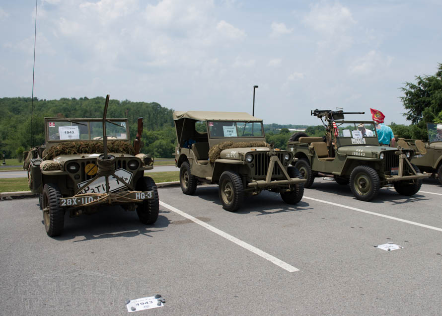Group of Willys Jeeps