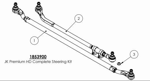 how to install teraflex hd tie rod  u0026 flipped drag link kit on your wrangler