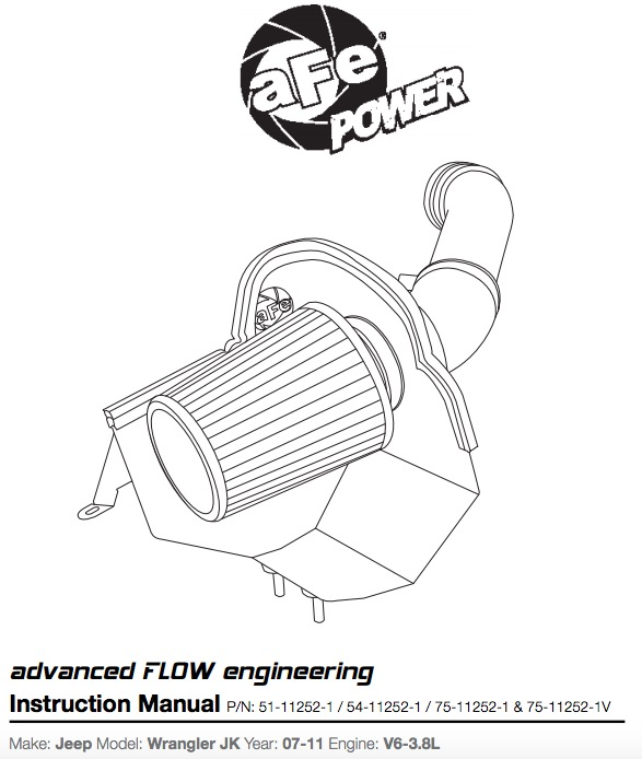 How to Install an aFe 3 8L V6 Mangum Force Intake Kit on