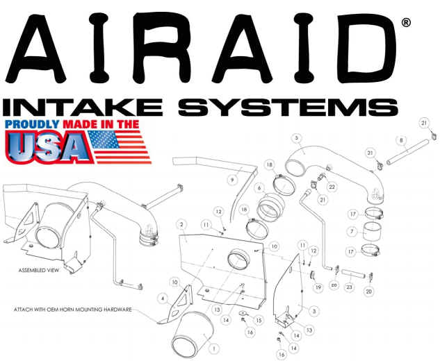 2.5L 1991-1995 Airaid Airaid Intake Kit; Jeep Wrangler