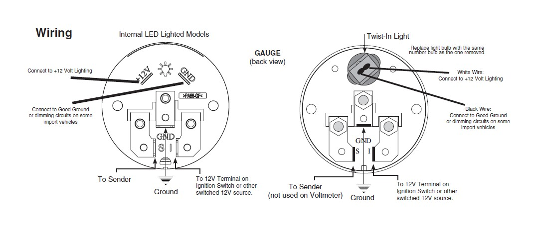 Autometer Gauges Wiring Diagram from lib.extremeterrain.com