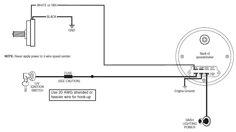 Universal Tachometer Sdometer Wiring Diagram on