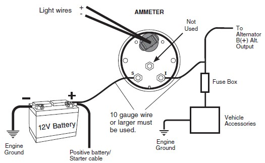 DOC] ➤ Diagram Voltmeter Wiring Diagram For Dc Ebook ... Amp Gauge Wiring Chart on