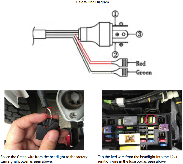 How to Install Axial LED Halo Headlights w/ Angel Eye DRL ... Halo Wiring Diagram on