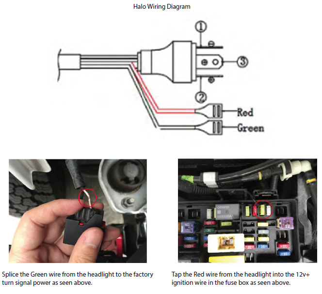 Secure Wiring Components And Reinstall The Headlight Bezel Trim: Halo Led Wiring Diagram At Johnprice.co