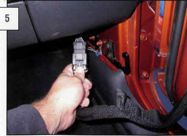 how to install barricade front adventure doors textured black on Jeep Wrangler Door Gasket on the inside of the jeep, under the dashboard, remove the door electrical harness (is your vehicle equipped) push the red tab to the right,