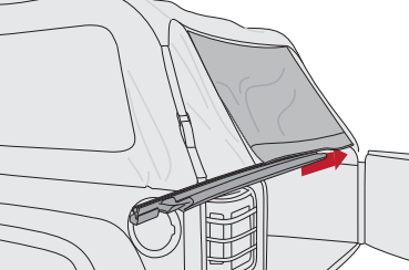 Superieur Step 22: Zip Rear Window To Side Windows In Rear Of Vehicle. Repeat For  Both Sides.