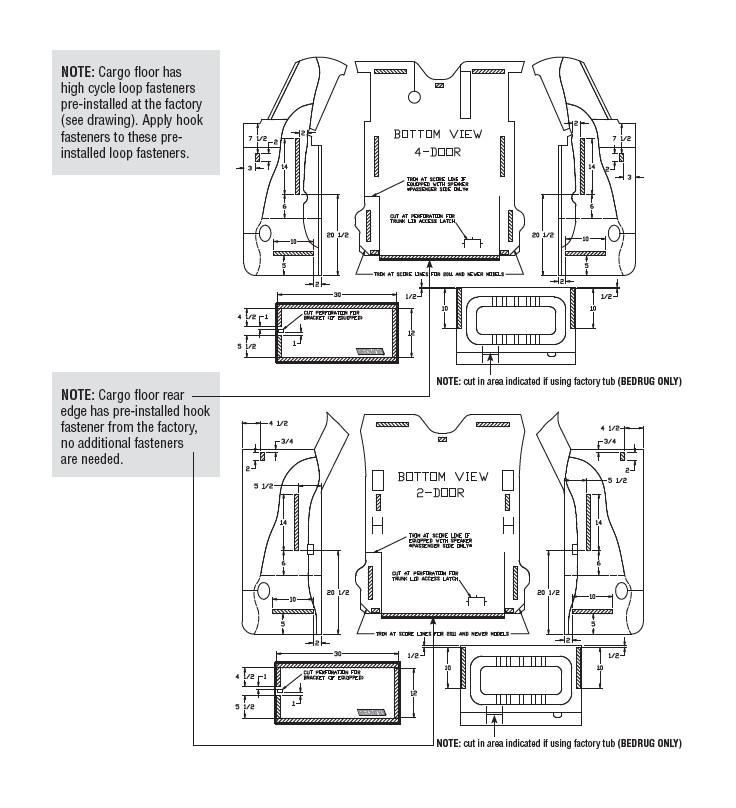 how to install bedrug front floor liners  07