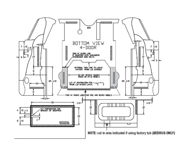how to install bedrug tailgate liner  07