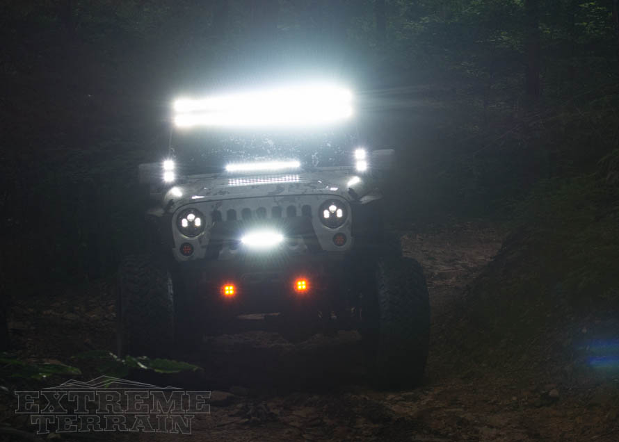 JK Wrangler with LED Off-Road Lighting