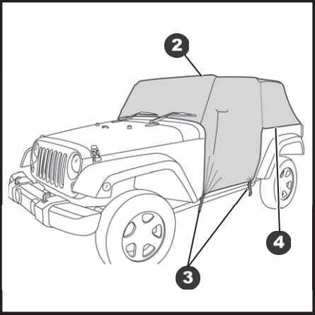 How To Install A Bestop Gray Trail Cover With Storage Sack On Your