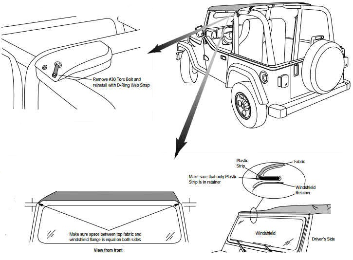 how to install a bestop header bikini top on your 2003
