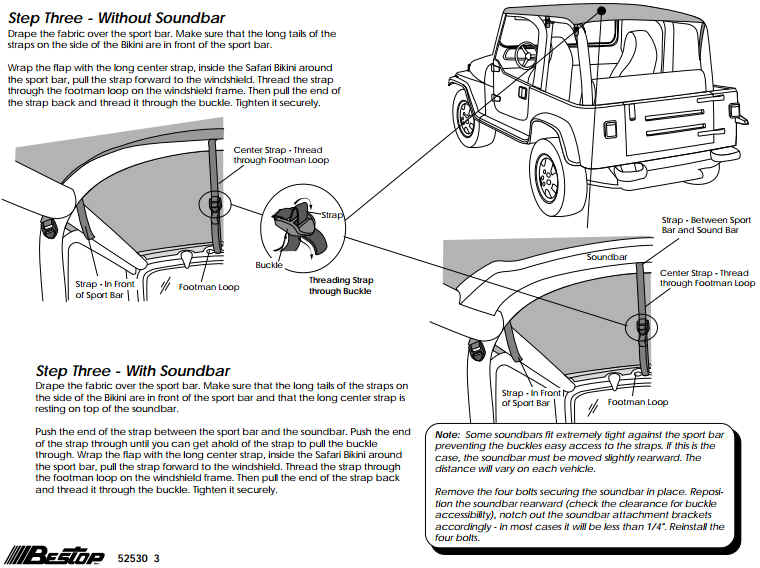 How To Install A Bestop Safari, Jeep Wrangler Tj Sound Bar Wiring Diagram