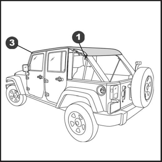 How To Install A Bestop Cable Style Black Diamond Safari Bikini Top