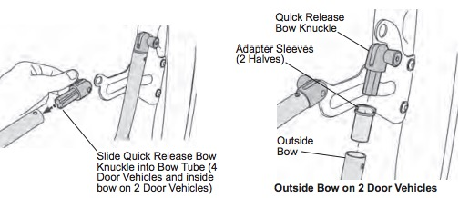 3 install quick release bow knuckles