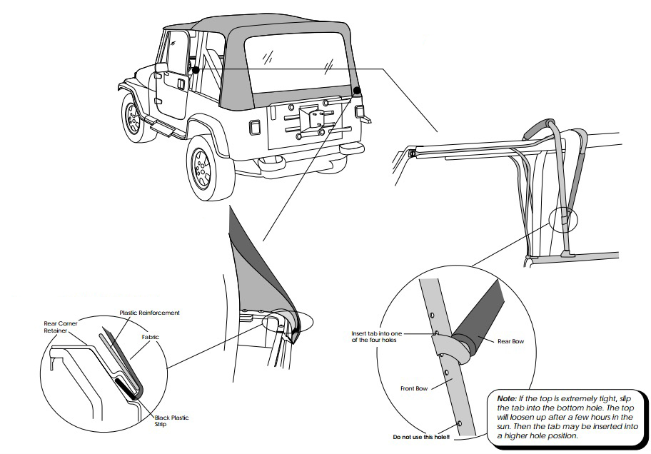 how to install a bestop supertop soft top w   tinted windows on your 1987