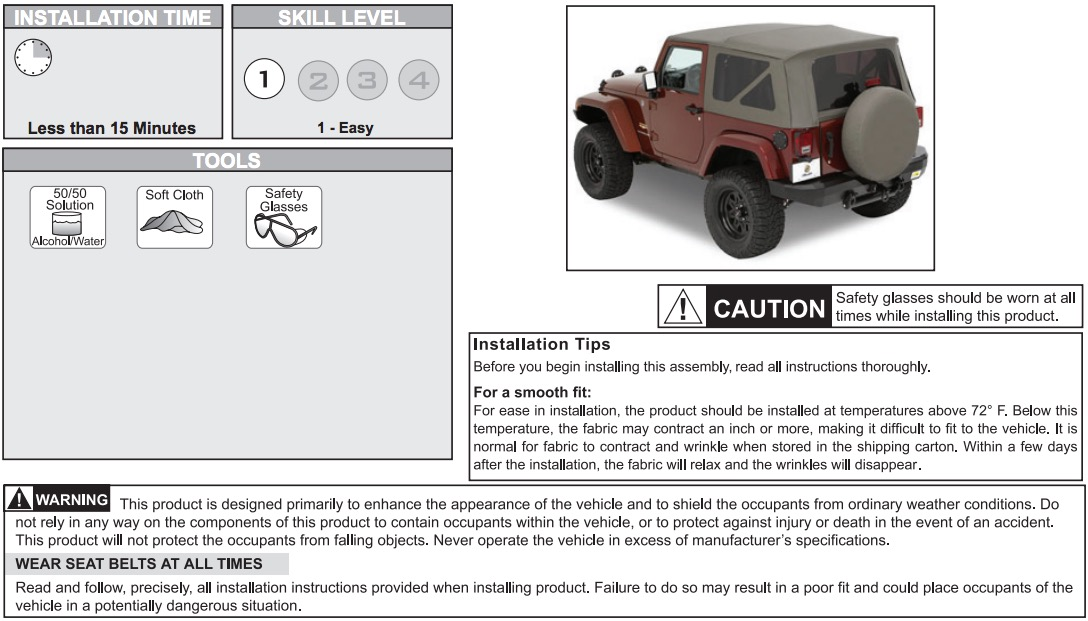 How to Install a Bestop Tailgate Bar on your 2007-2017 Jeep Wrangler
