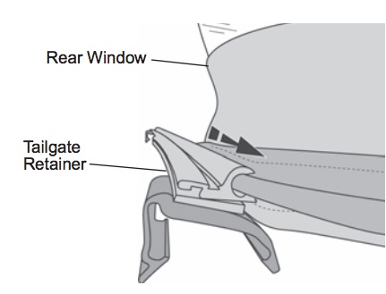 Ordinaire Orient The Retainer With The Round Seal Down And Slide The U201cCu201d Channel On  The Retainer Onto The Tubed Strip Sewn To The Backing Side Of The Rear  Window.