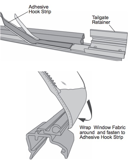 Exceptionnel NOTE: Allow 72 Hours For The Adhesive To Set. Avoid Unnecessary Fastening  And Unfastening Of The Rear Window During This Period.