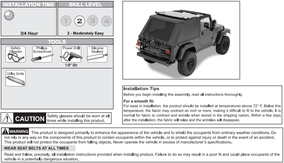 How To Install A Bestop Trektop Nx On Your 2007 Manual Guide
