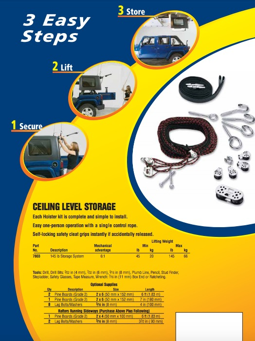 Harken Hoister Garage Storage 4 Point Lift System Review