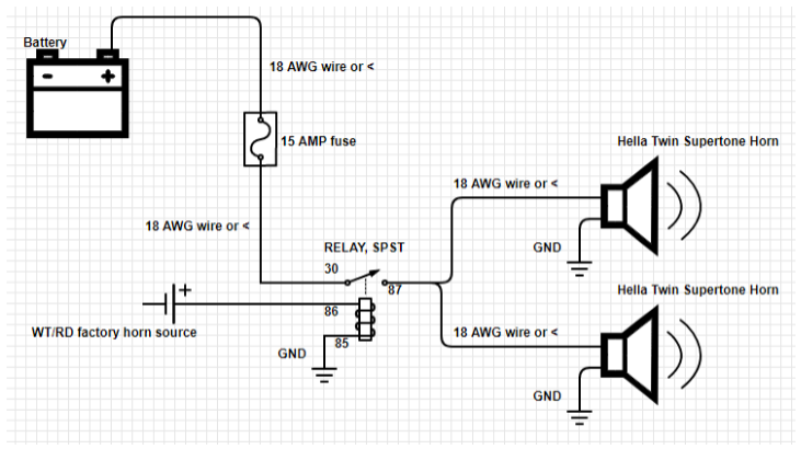 horn relay wiring schematic