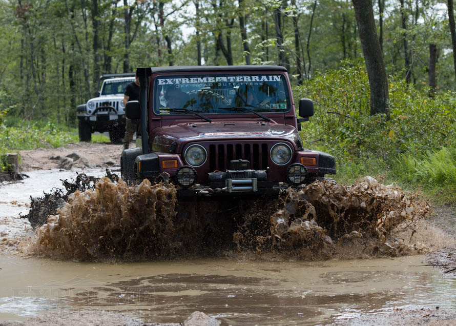 TJ Wrangler Slogging Through Water