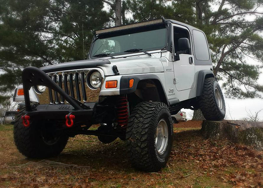 50in Light Bar Mounted to the Roof of a TJ Wrangler
