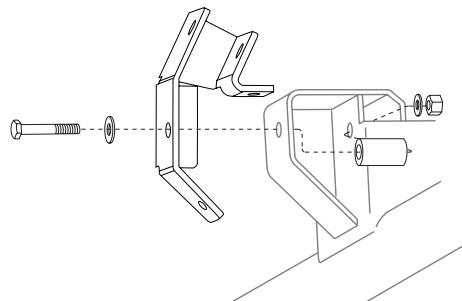 JKS OGS160 Rear Track Bar Relocation Bracket Kit for Jeep TJ