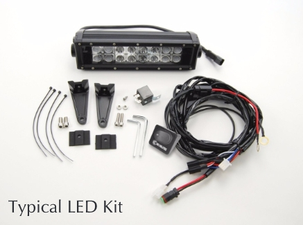 How to Install KC HiLiTES LED Light Bar, 10 in. w/ Harness ... Kc Wiring Harness on