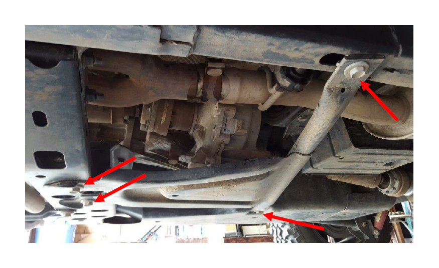 How to install mbrp exhaust system w muffler relocate on your it is possible to complete the install without removing it but it will be much easier if removed you will need to remove the four 18mm bolts holding the sciox Choice Image