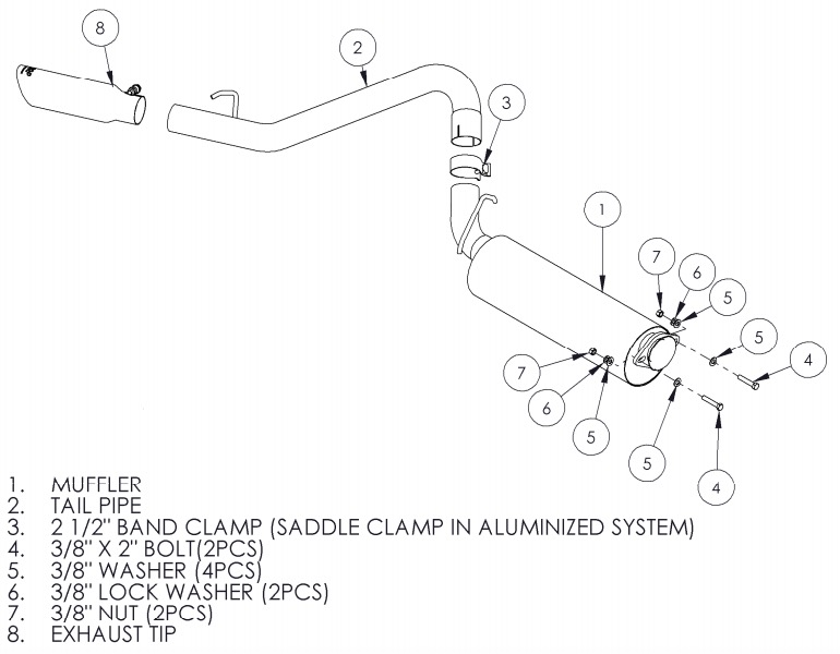 how to install a mbrp cat back, single side, on your 2000 2006 jeep jeep tj parts diagram mbrp black series cat back exhaust (00 06 jeep wrangler tj, excluding unlimited)