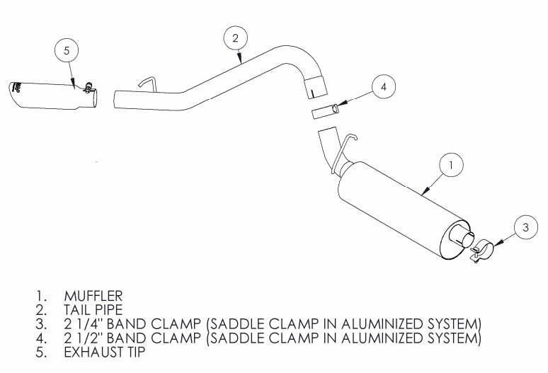 how to install a mbrp cat back, single side, aluminium on exterior parts of a jeep oem exhaust parts diagrams quadratec
