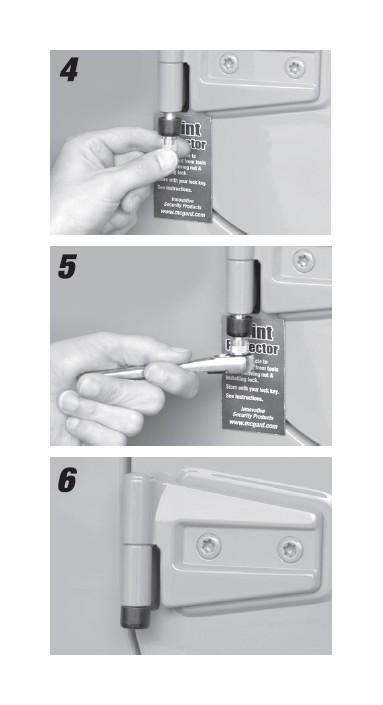 How To Install Mcgard High Security Door Hinge Locks On