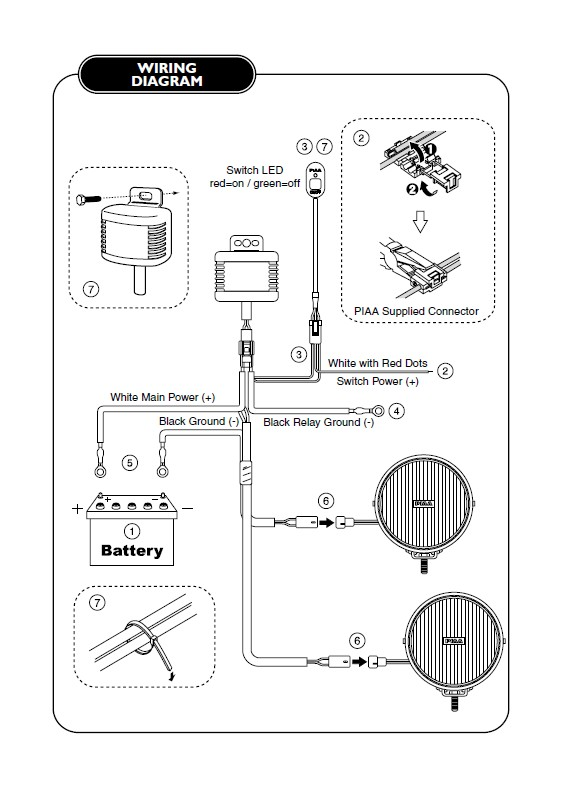 How to Install PIAA 520 Series 6 in. Round Chrome SMR Halogen Lights Halogen Light Wiring Diagram on ballast wiring diagram, chandelier wiring diagram, halogen light cover, fans wiring diagram, halogen light bulbs diagram, lamp shade wiring diagram, halogen light headlights, floor lamp wiring diagram, fluorescent lamp wiring diagram, halogen lamp wiring diagram, table lamp wiring diagram, compact fluorescent wiring diagram, control panel wiring diagram, halogen light bmw, halogen light wire, lighting wiring diagram, bulb wiring diagram, halogen light connectors, sirius satellite radio wiring diagram, halogen light power supply,