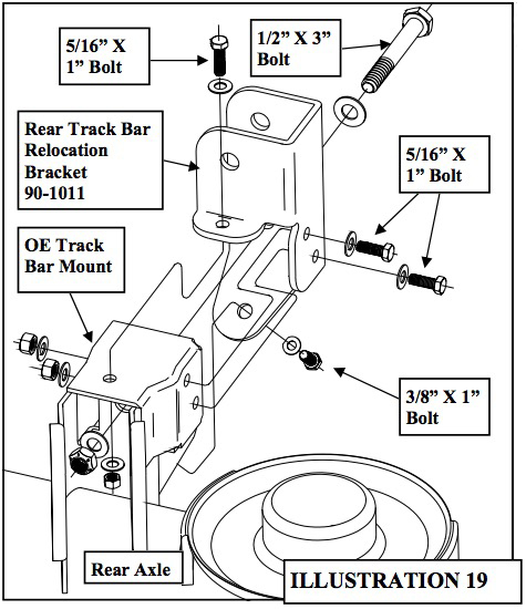 torque the rear lower control arm mounting bolts according to the factory  manual