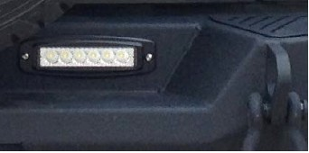 install the led light onto the rear bumper