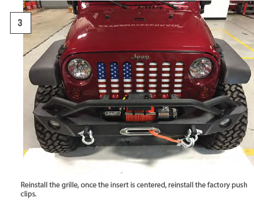 Redrock 4x4 Mesh Grille Insert Old Glory for Jeep Wrangler JK 2007-2018