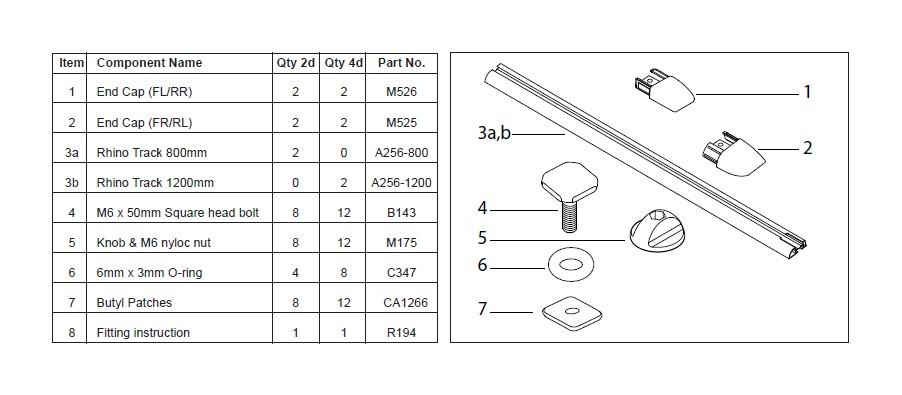 How to Install Rhino-Rack Heavy Duty RLT500 Trackmount 2 Bar Roof