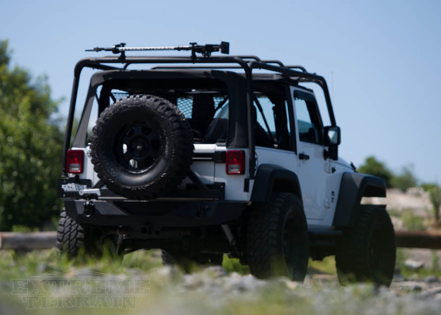 JK Wrangler with Exterior Roof Rack