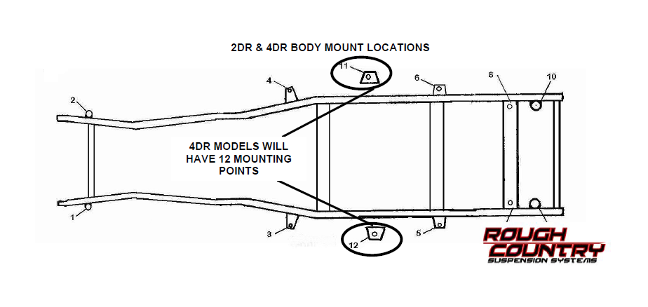 INSTALLATION INSTRUCTIONS FOR JEEP JK 2 AND 4 DOOR BODY LIFT