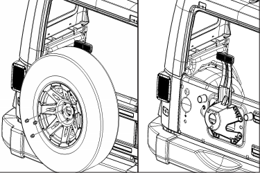 How to Install a Rugged Ridge Spartacus HD Tire Carrier ... Jeep Yj Wiring Diagram Cigarette Lighter on