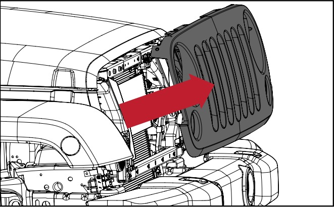 How to Install a Rugged Ridge Spartan Grille Satin Black on your – Jeep Spartan Wiring
