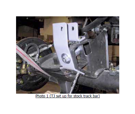 How to Install a Rubicon Express Track Bar Bracket Rear w