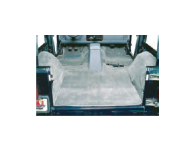 (1) Front floor cover (1) Center floor cover (behind front seats) (1) Rear floor cover (2) Fender well covers (LH,RH)