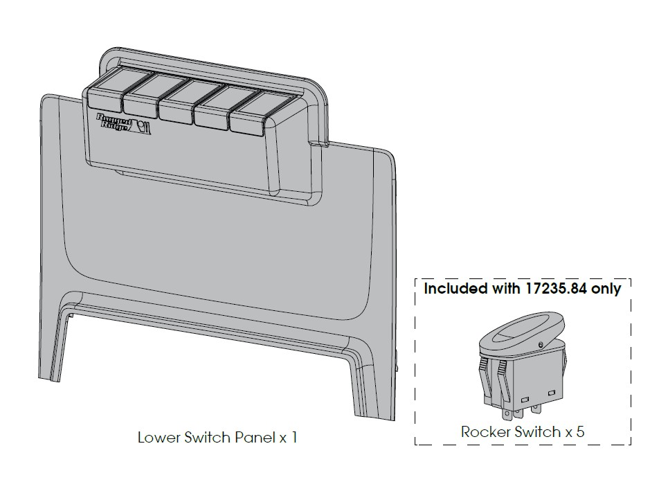 How to Install Rugged Ridge Lower Console Switch Panel (11-17 ...