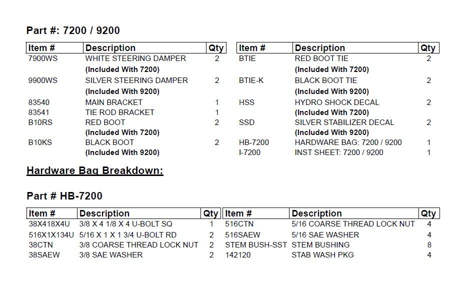 Skyjacker 7200 Steering Stabilizer Dual Kit